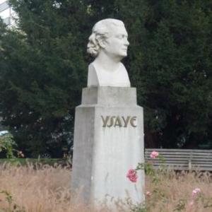 Buste d' Eugene Ysaye dans le parc devant le Conservatoire