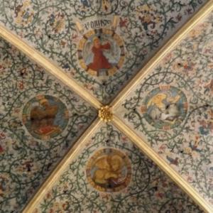 Liege : Cathedrale St Lambert ( detail de la voute )