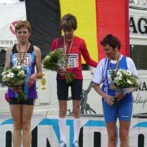 Le podium du championnat de Belgique 2009