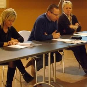 Mme S. Hermann, M. JP Beuvens et Mme V. Fagnoul ( Presidente )