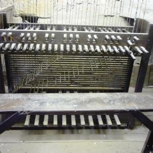 Le clavier du carillon de la cathédrale de Malmedy ( photo F. Detry )