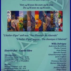 """Butgenbach                             L'Atelier d' Igor expose : """" Du classique à l'abstrait """""""