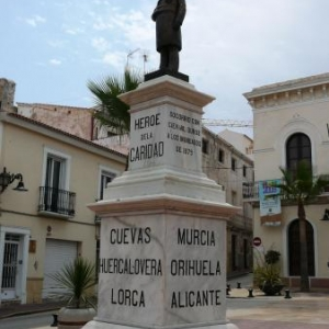 AW 020016 Cuevas del Almanzora : Monument eleve a la mémoire des victimes des inondations de la fin du 19eme siecle ..Les Heros de la Charite