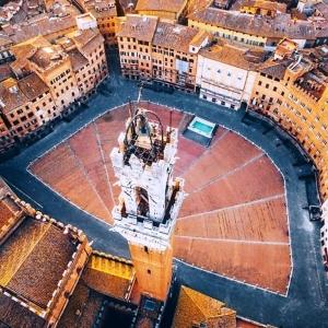 18 Piazza del Campo, Sienne, Italie © Mauro Pagliai - Drone Awards 2020