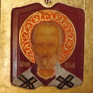 St Nicolas ( realisee sur une porte d'armoire )