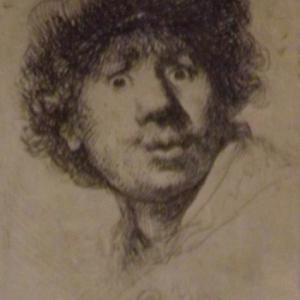 Autoportrait avec chapeau et yeux grands ouverts ( 1630 )