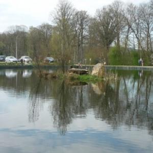 """Bellevaux : l 'etang de peche """" Etangs du menhir """" -080/339291 - http://www.les -etangs-du-menhir.be )"""