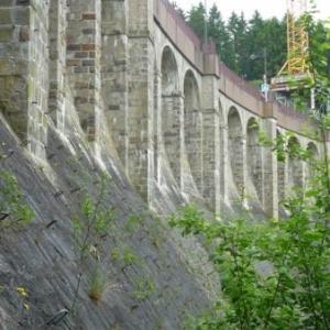 Le mur exterieur aval