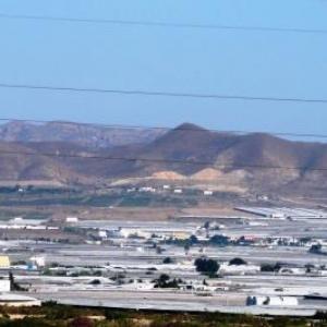 AW 020 007 Province d Almeria : des serres plastiques a perte de vue ( cultures maraicheres : tomates, fraises, ...)