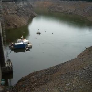 Le niveau du lac durant les travaux