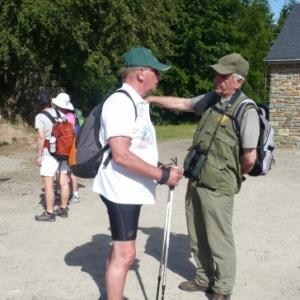 Guide et President de Malmedy Marche en concertation( photo de O. Servais )