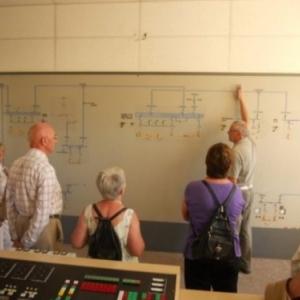 Dans l'ancienne salle de commande  ( ( Photo Ch. Crasson )