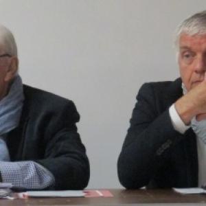 Ms Rene SCHYNS et Alain MAGER, responsables de l'Expo