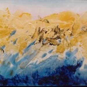 Reflets d'or sur la montagne