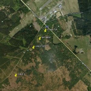Localisation du champ de tir