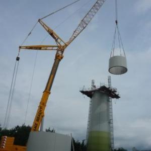 WAIMES            La construction  des éoliennes de Chivemont a débuté.