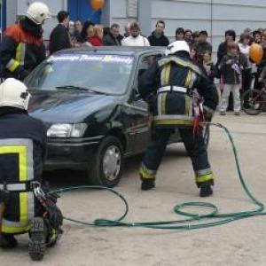 Demonstration de desincarceration ( Pompiers de Malmedy )