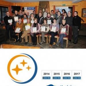 Les representants des etablissements laureats ( Photo: ATEB )