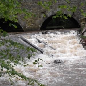Amenagement pour eviter que l'echelle a poissons du seuil des Bressaix sur l'Ambleve a Stavelot ne se bouche par l'accumulation de bois flottants (SPW-DCENN)