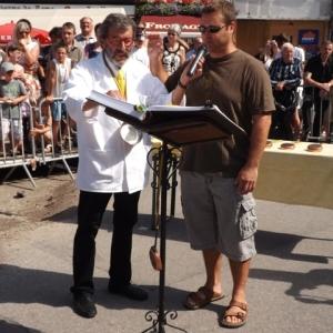 Prestation de serment de Jean - Yves MORAY, initiateur de cette manifestation malmedienne