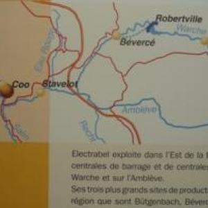 Le reseau regional des barrages gere par Electrabel