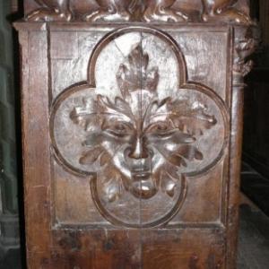 Liege : Cathedrale St Lambert ( detail de siege )