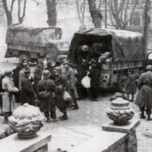 Evacuation des civils ( Photo de F. Freches)