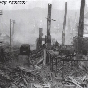Malmedy apres les bombardements ( Photo : Freddy Freches )