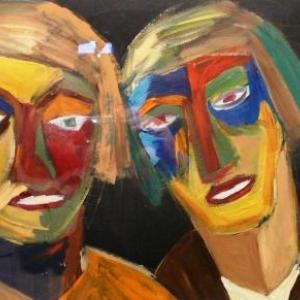 Acrylique sur toile et sur papier de Therese Bragard