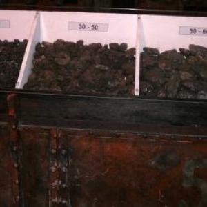 Le charbon calibre