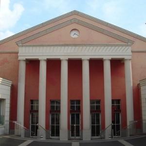 Facade du theatre des Abbesses a Paris