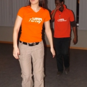 Rachel Bouhy (Belgique) et A. Karim Droubly (Cote d Ivoire)