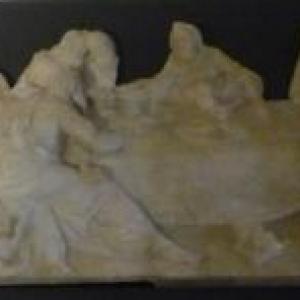 La Cene ( bas - relief en albatre )