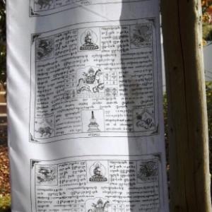 Un drapeau de messages ( prieres )