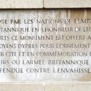 """Motif d'erection du memorial de la """"Porte de Menin """""""