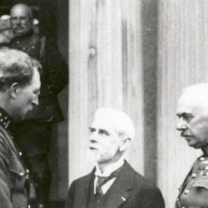 Le Roi Albert 1er et le général baron Baltia