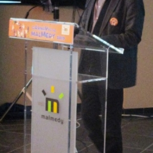 Conference de presse ( M. Denis, Echevin du Tourisme )