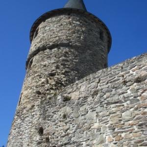 Le chateau de Reinhardstein : la tour Salamandre