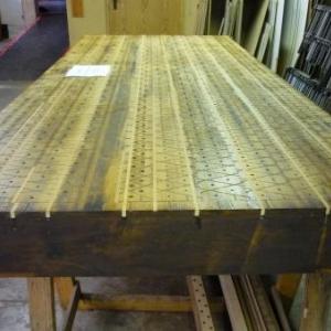 La manufacture d'orgues : un sommier de grandes orgues