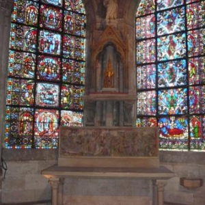 Une des 7 chapelles dans le chevet concu par Suger