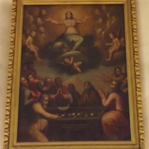 """""""L'Assomption de la Vierge ( 1656 ) dans le choeur de la chapelle"""