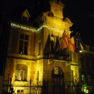 L'hotel de ville illumine