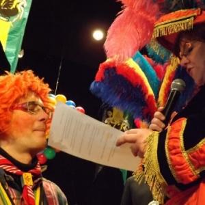 Reception de la Mesnie : intronisation de Marc DEWART, carnavalisant et defenseur de la cause wallonne