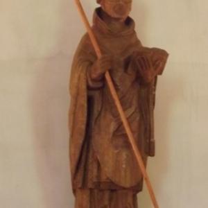 Copie de la statue de St Poppon ( 15eme s.)