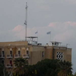 Batiments occupes par les troupes de l' ONU