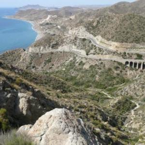AW 020012 La route de la cote entre Carboneras et Almeria