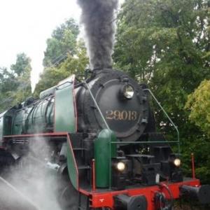 La locomotive 29.013 au depart