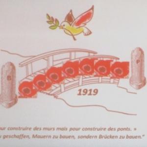 """28 juin 2019    100e anniversaire du Traité de Versailles - """"Bornes sans frontière"""""""