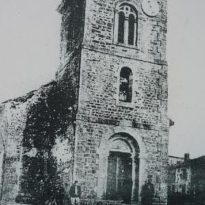 Eglise de Beaumont - en - Verdunois apres les combats