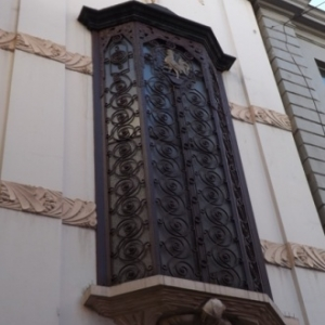 Liege : detail de la facade du Trocadero, salle de spectacles )
